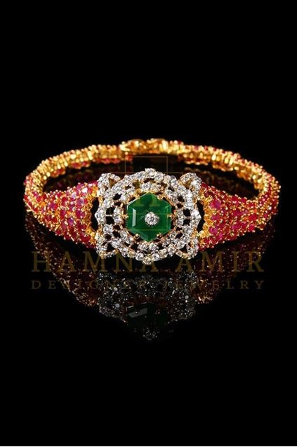 Picture of Ruby Emerald and Zircon Bracelet