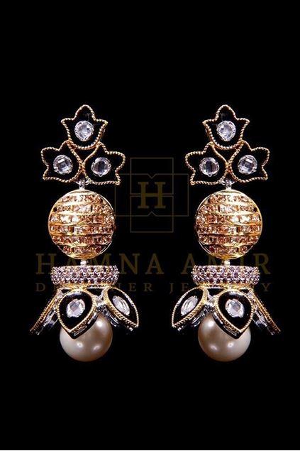 Picture of Kundan Minakari Pearl Earrings